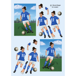 066891 Fodbold pige