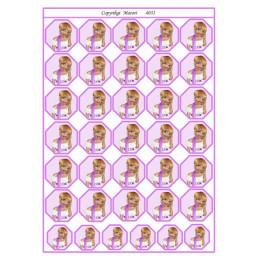 4031 Bordkort Pige