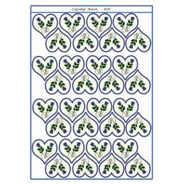 4026 Bordkort Blomst