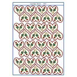 4025 Bordkort Blomst