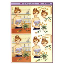 067078 Blomsterbinder pige