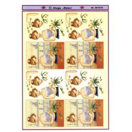 067079 Blomsterbinder pige