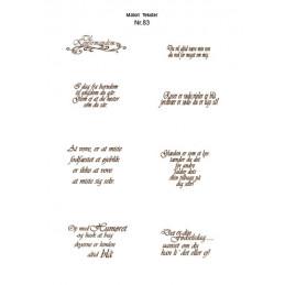 Nr 83 Matori tekst