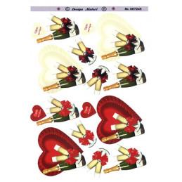 067245 Matori Hjerte hvid-rød