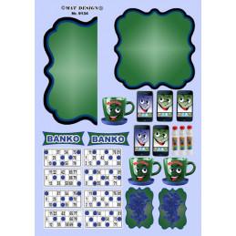 9134 Mat design banko blå
