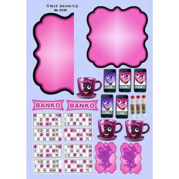 9135 Mat design banko pink