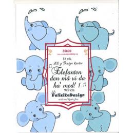 35839 Elefanten 9 x 9 cm