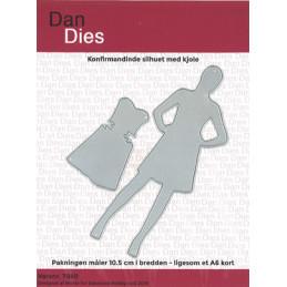 7840 Silhuet pige Dan dies