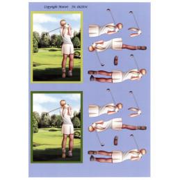 062034 - Golfspiller-Dame