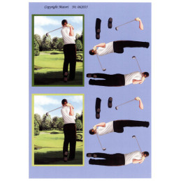 062035 - Golfspiller-Mand